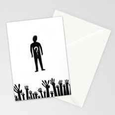 hands with questions Stationery Cards