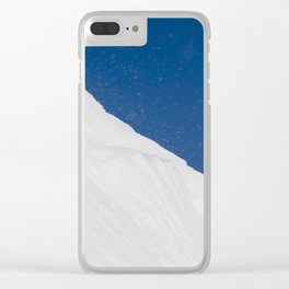 white uneven snowdrift Clear iPhone Case