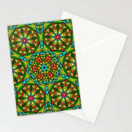 Stained Glass Mandala Stationery Cards