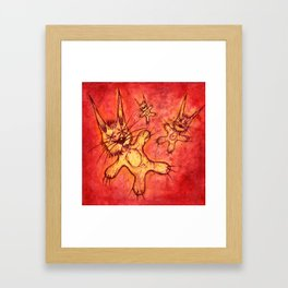 Record Cover for some Jazzed Rabbits Framed Art Print