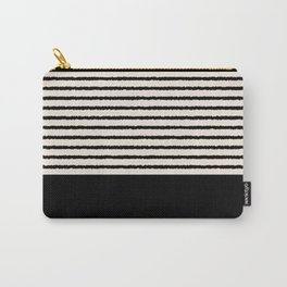 Texture - Black Stripes Blocks Carry-All Pouch