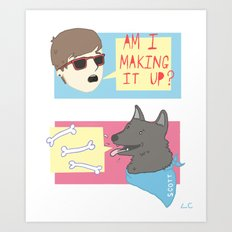 Making It Up Art Print