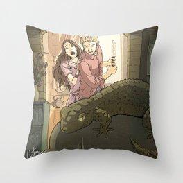 A modern St George Throw Pillow