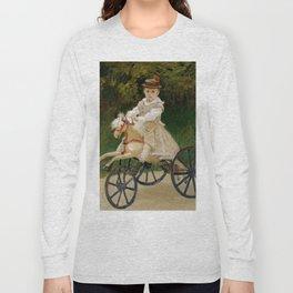 "Claude Monet ""Jean Monet (1867–1913) on His Hobby Horse"" Long Sleeve T-shirt"