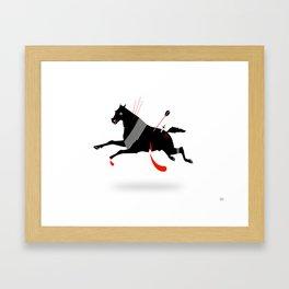 Battle Horse Framed Art Print