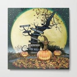 Pumpkin Gremlin Metal Print
