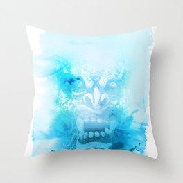 Démon Blue Throw Pillow