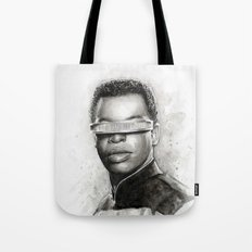 Geordi La Forge Star Trek Art Tote Bag