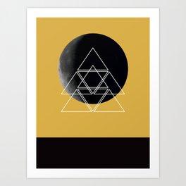 Geometric Moon Art Print