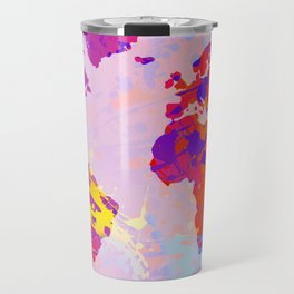 What a Colorful World Map Travel Mug