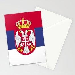 Serbia flag emblem Stationery Cards