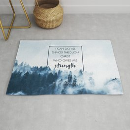 Forest Philippians 4:13 Rug