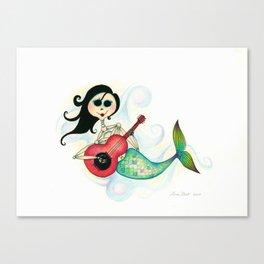 Sirenita Cucurumbe - Dia de los Muertos - Mermaid Canvas Print