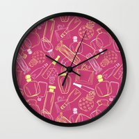90s Wall Clocks featuring Perfumed 90s by oleynikka