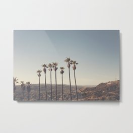 Hollywood Hills Metal Print