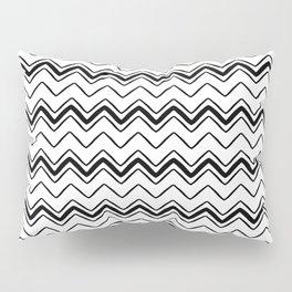 Black line waves Pillow Sham