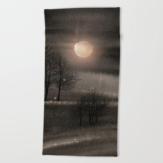 Calling The Moon III Beach Towel