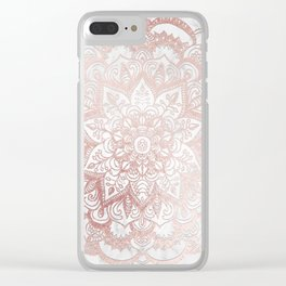 Rose Gold Mandala Star Clear iPhone Case