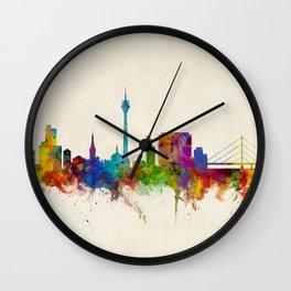 Düsseldorf Germany Skyline Wall Clock