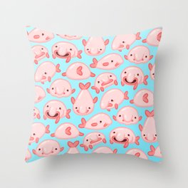 Blobfish Pattern Throw Pillow