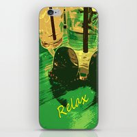 relax iPhone & iPod Skins featuring Relax by Geni