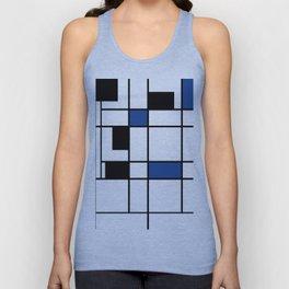 Indigo , abstract , geometric Unisex Tank Top