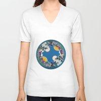 mandala V-neck T-shirts featuring Mandala by Abundance