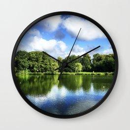 Park from Østerbro, Copenhagen Wall Clock
