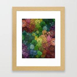 Succulent Garden Rainbow Framed Art Print