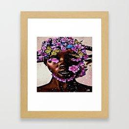 CHILD OF FLOWER Framed Art Print