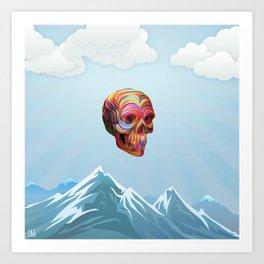 Skull Passes By Art Print