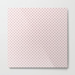 Taupe Polka Dots on Pink Metal Print