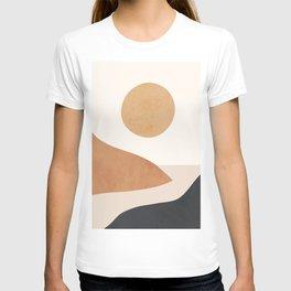 Minimal Abstract Art Landscape 9 T-shirt