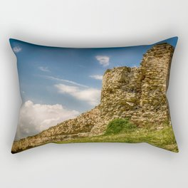 Ruins of an old fortress on a hill Rectangular Pillow