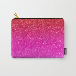 Red/Pink Glitter Gradient Carry-All Pouch