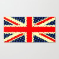 union jack Canvas Prints featuring Union Jack by deff