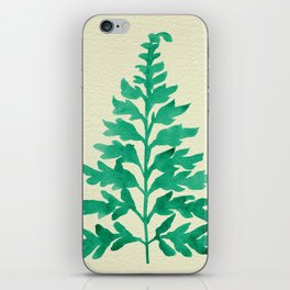 Mint Fern iPhone Skin