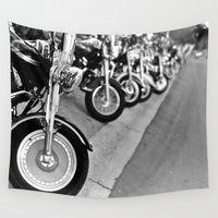 bikes Wall Tapestries featuring Bikes by M. Gold Photography
