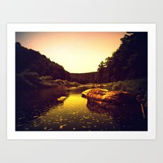 Let the Creek Take You Away Art Print