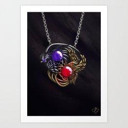 The Nightingale Pendant Art Print