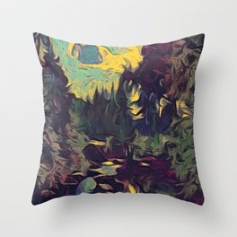 Two Lakes River Throw Pillow