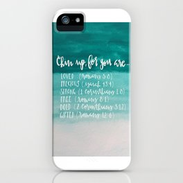 chin up (teal) iPhone Case