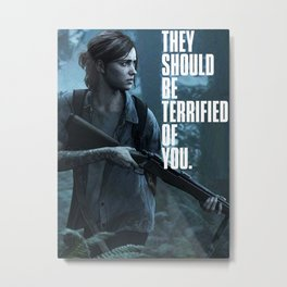 The Last of us 2 Part II Ellie terrified of You T-shirt Poster And More Metal Print