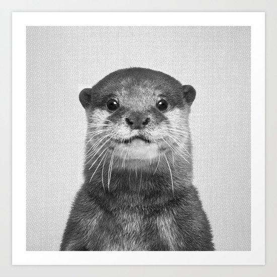Otter - Black & White by galdesign