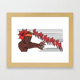 King Kamehameha Dragonball Style Framed Art Print