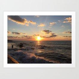 Mediterranean Sunset (Joppa) Art Print