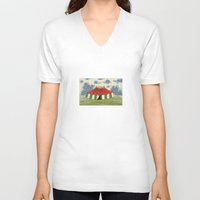 circus V-neck T-shirts featuring circus by Dachie