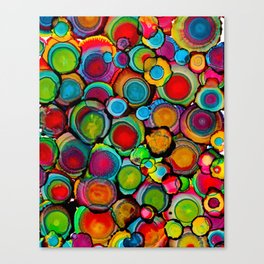 Conscious Overlap (Alcohol Inks Series 03) Canvas Print