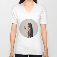witch V-neck T-shirts featuring Witch by Nioko