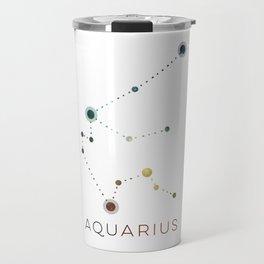 AQUARIUS STAR CONSTELLATION ZODIAC SIGN Travel Mug